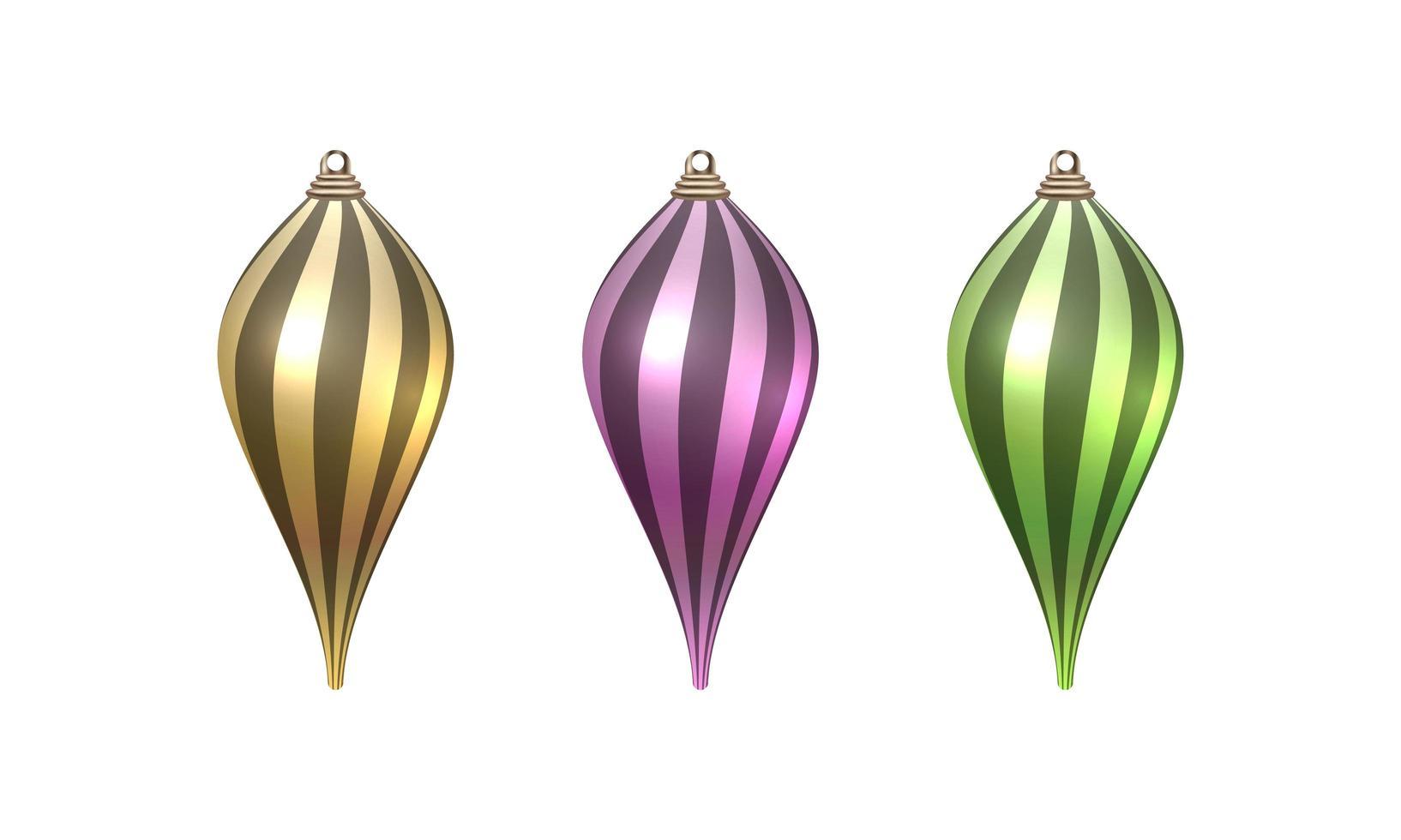 vrolijk kerstfeest ornamenten set vector