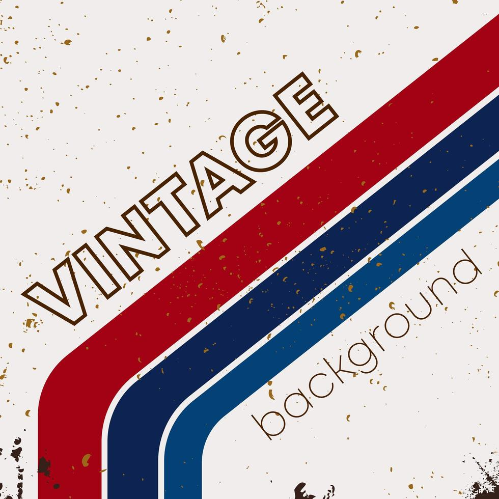 retro grunge textuur achtergrond met vintage kleur strepen vector