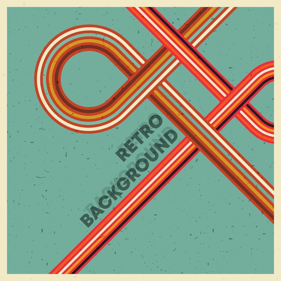 retro grunge textuur achtergrond met vintage kleurrijke strepen. vector