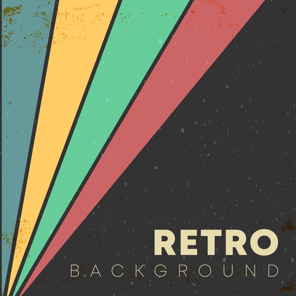 lineaire achtergrond met retro textuur en gekleurde strepen vector