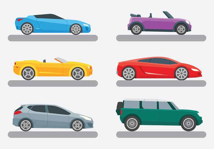 Bright Carros Icons Vector