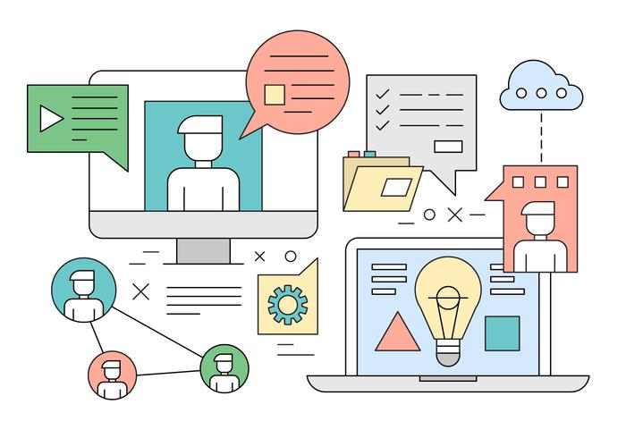 Gratis Vector illustratie van web Learning Concept