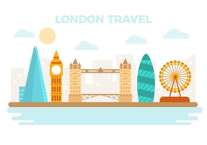 Gratis London Travel Vector Illustration