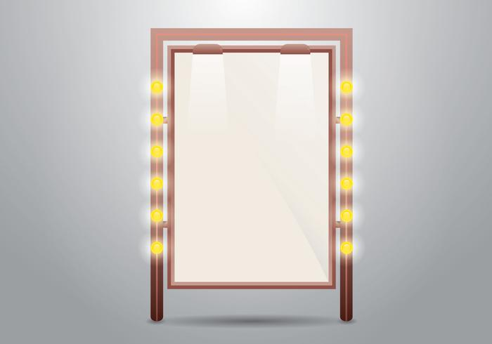 Verlichte spiegel of Sign Vector