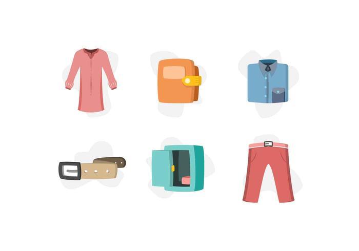 Gratis Mooie Garderobe Element Vectors