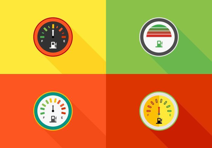 Kleurrijke Snelheidsmeters Vector