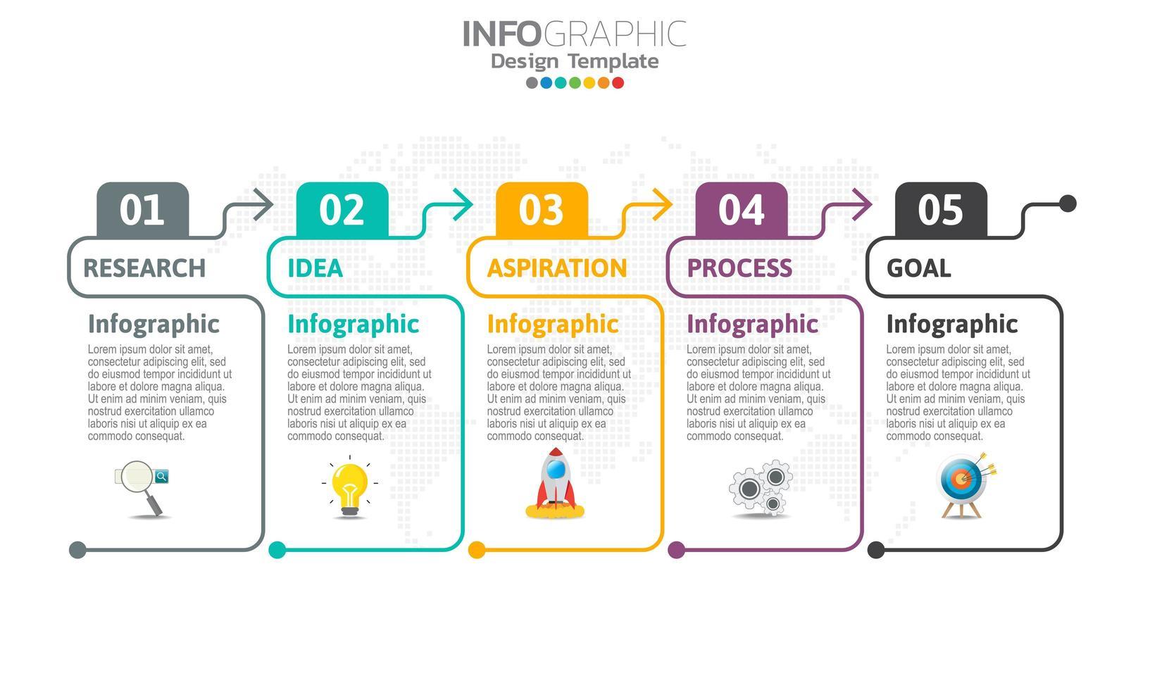 infographics voor bedrijfsconcept met pictogrammen vector