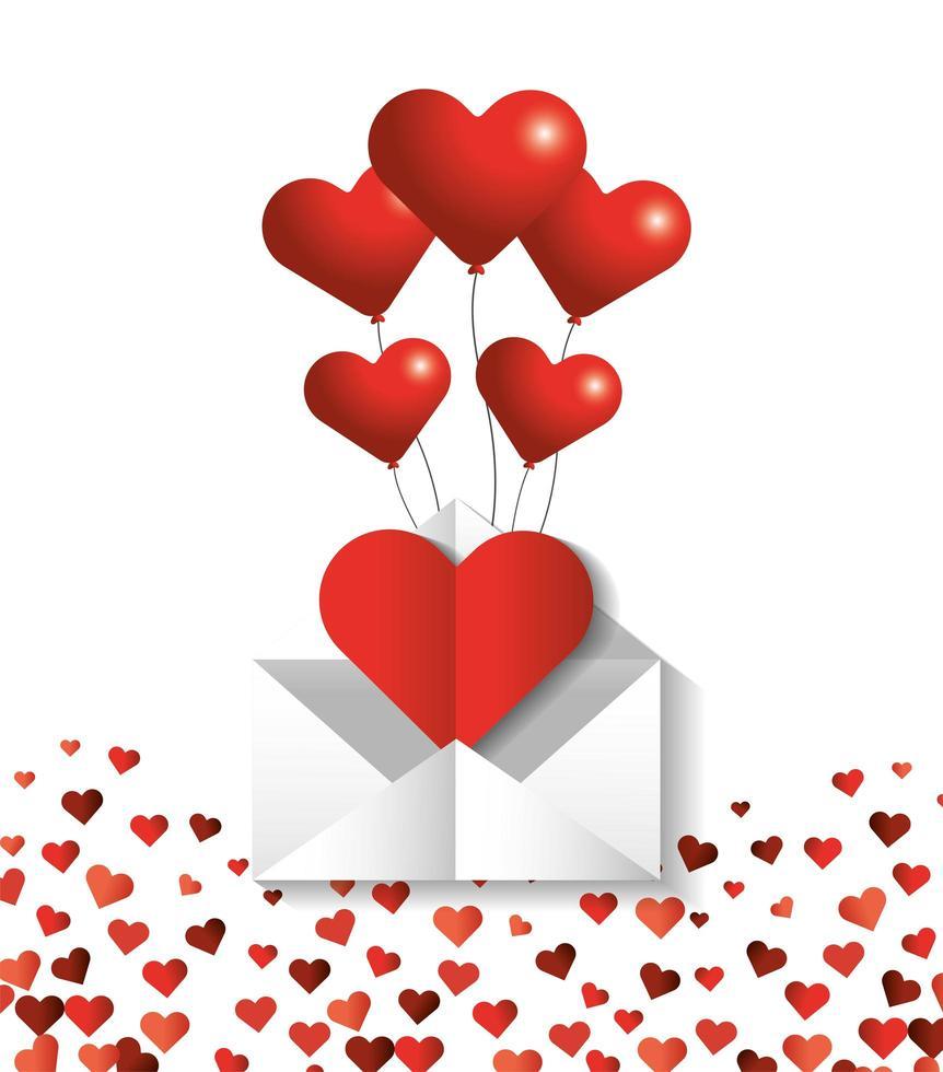 hartvormige ballonnen voor Valentijnsdag vector