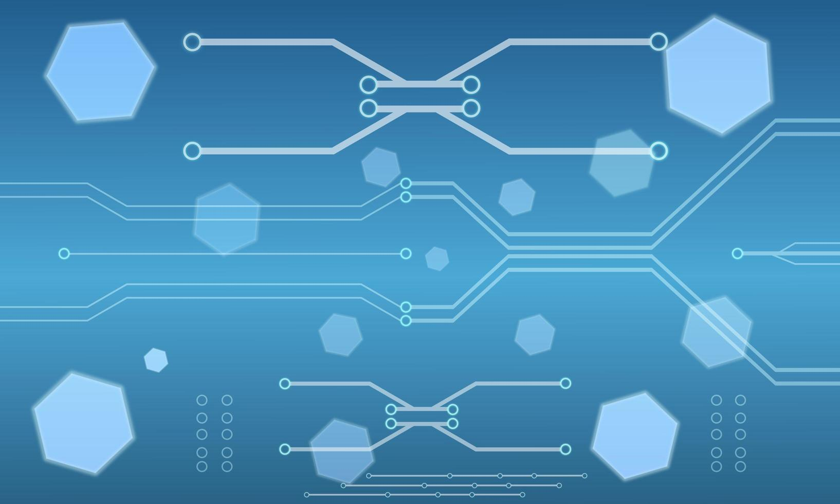 abstract high-tech zeshoekig printplaatontwerp vector