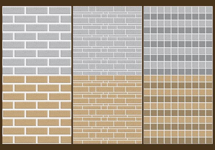 Stone Wall Patterns vector