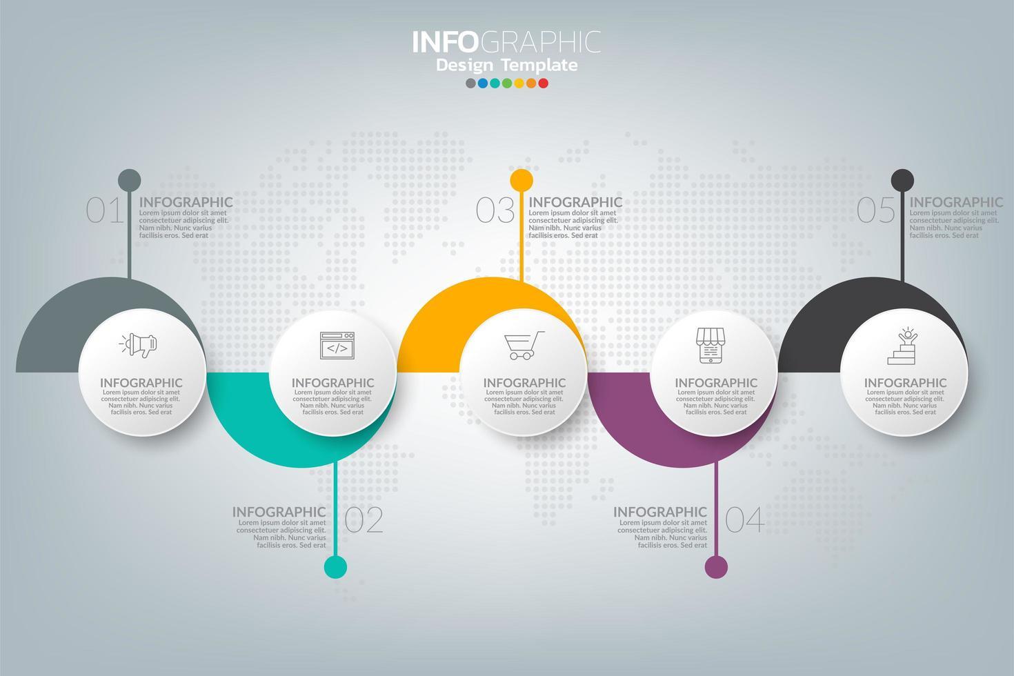 hoe succes zakelijke infographic vector