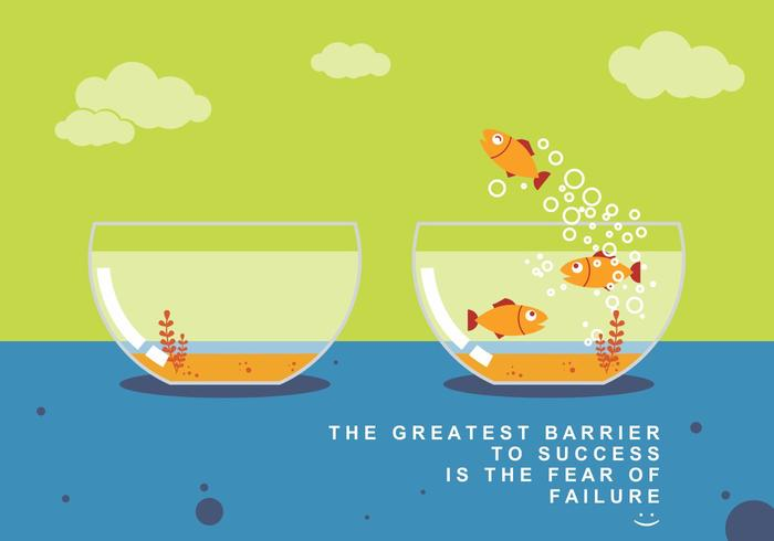 Vlieg Fish and Success Concept Vector