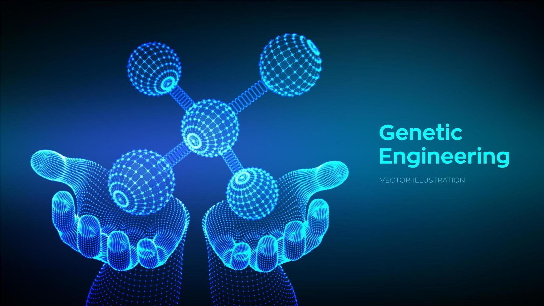 genetische manipulatie futuristische banner vector