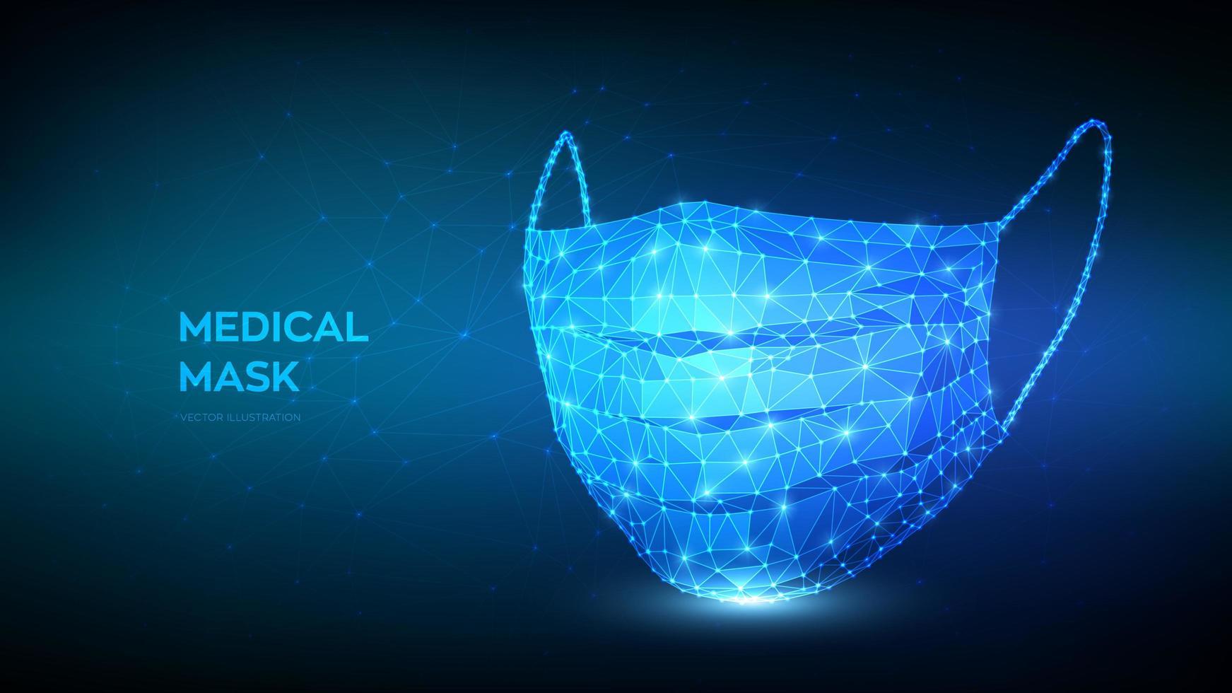 medische masker futuristische banner vector