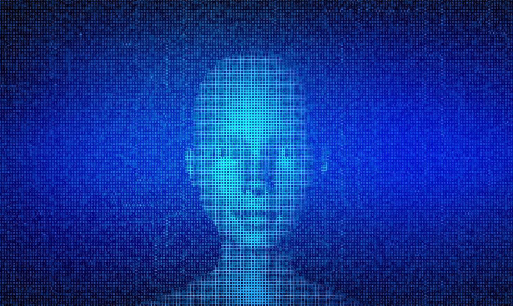 kunstmatige intelligentie concept futuristische banner vector