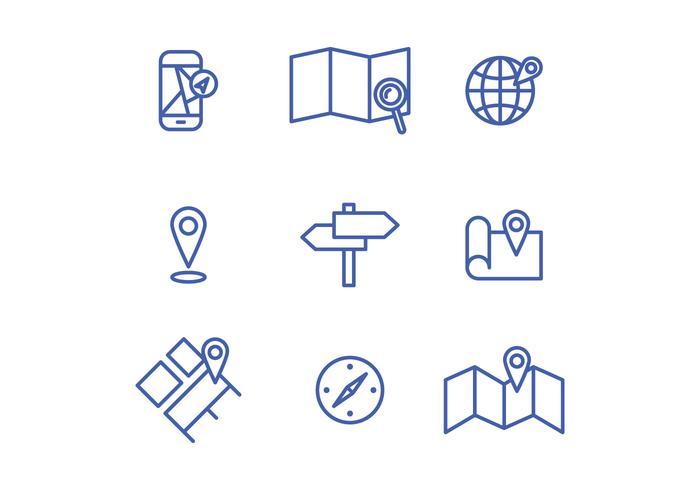 Locatie Icons vector