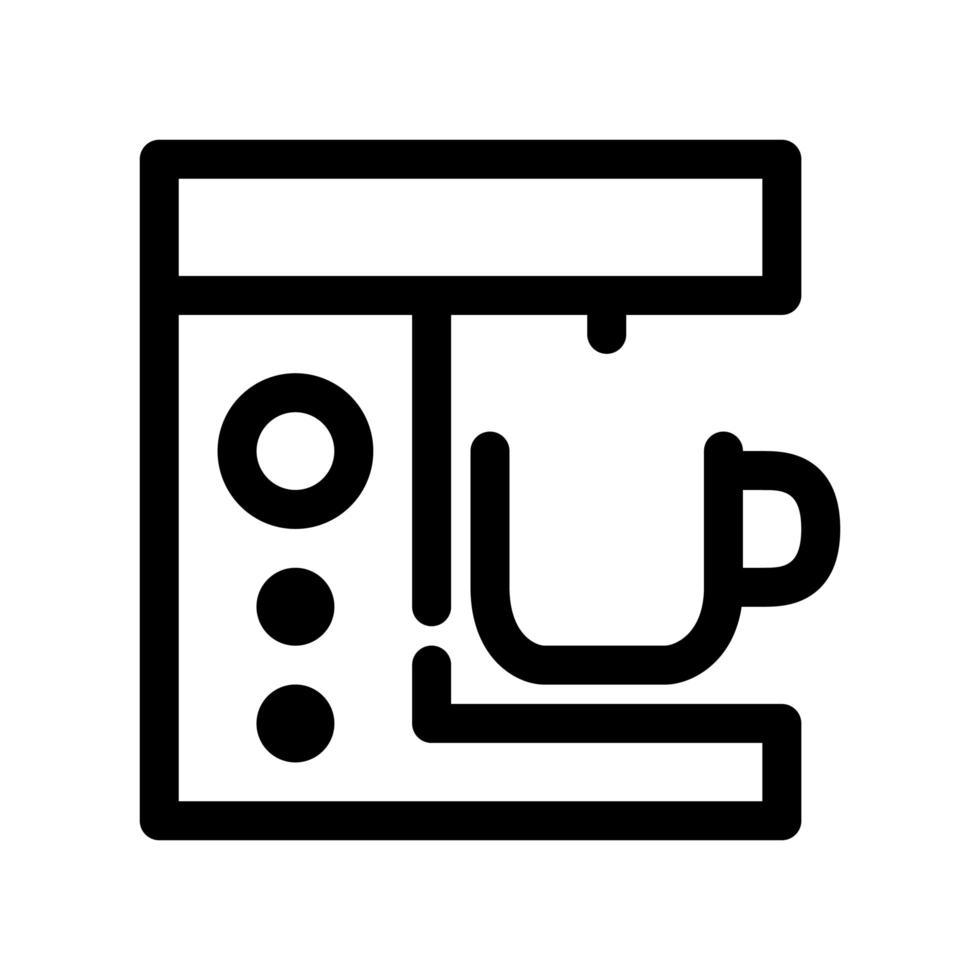 koffie machine overzicht pictogram vector
