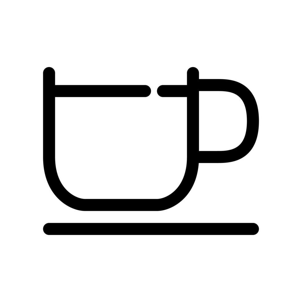grote koffiekopje overzicht pictogram vector