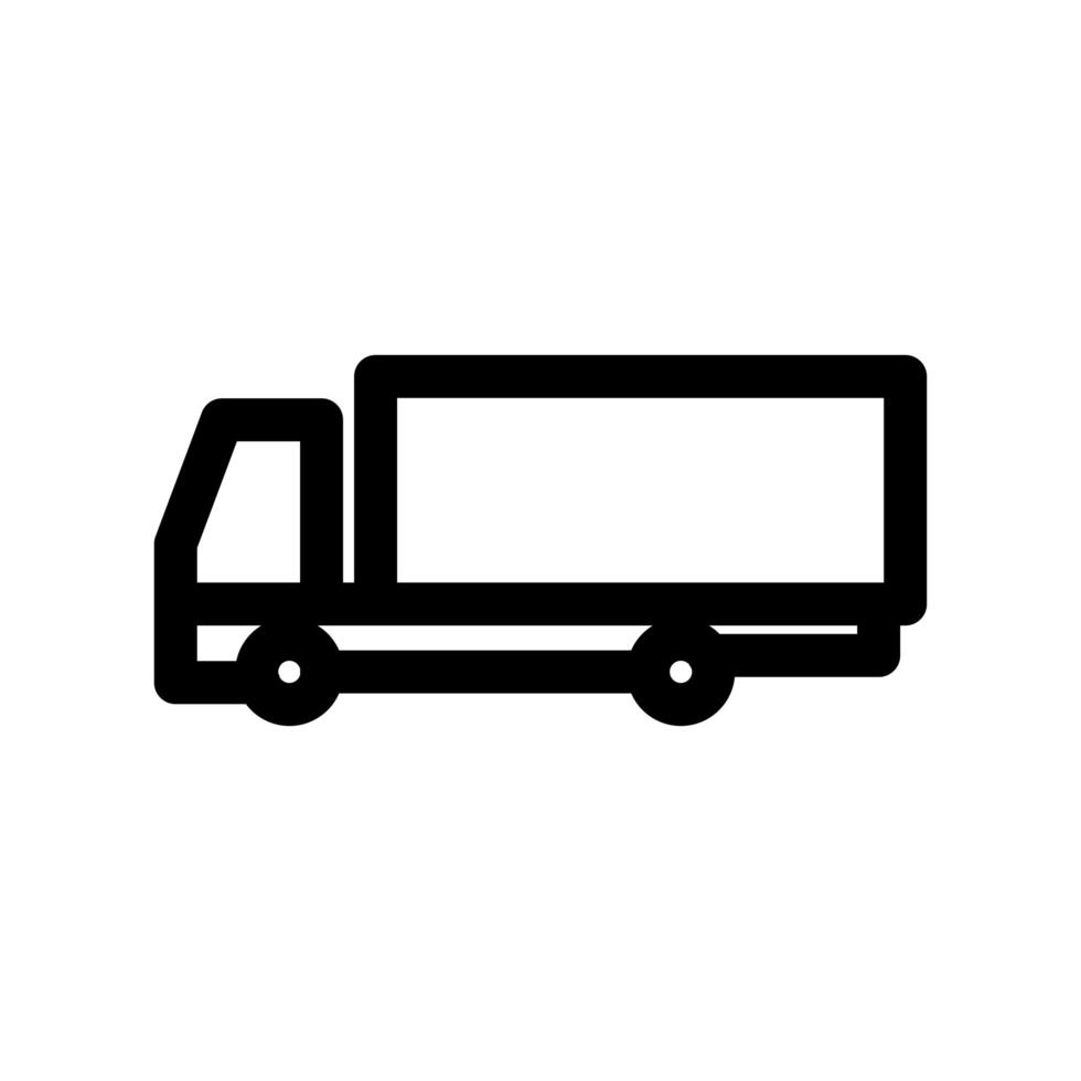 vrachtwagen overzicht pictogram vector