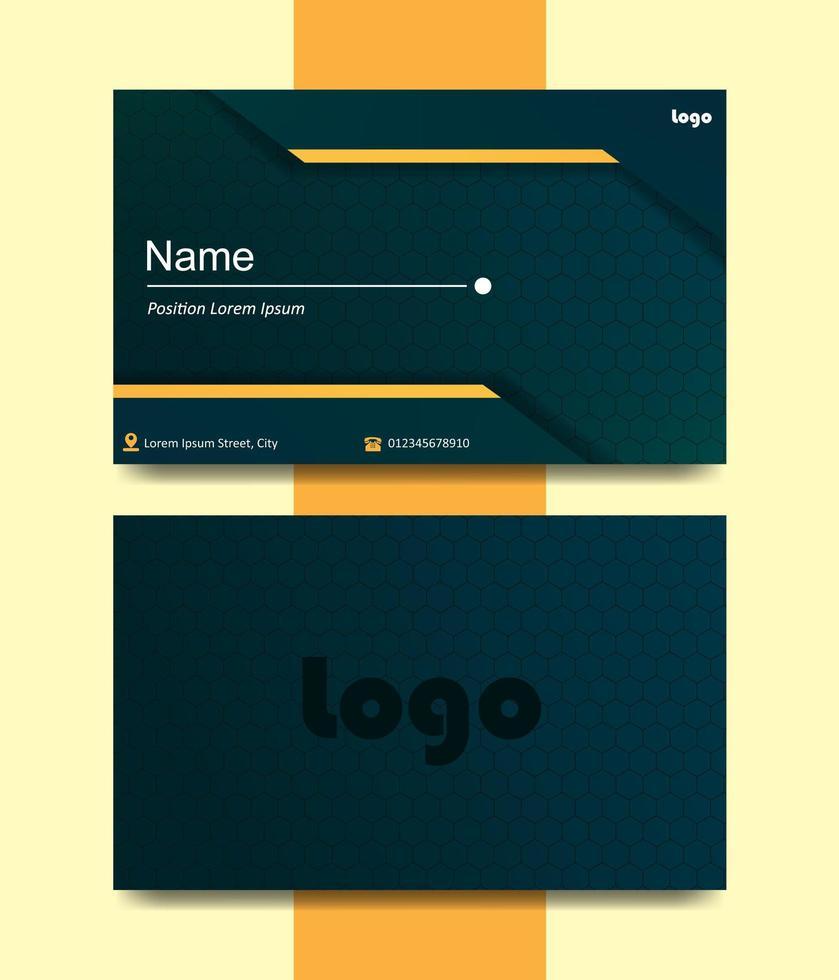 visitekaartje met dubbelzijdig modern ontwerp vector