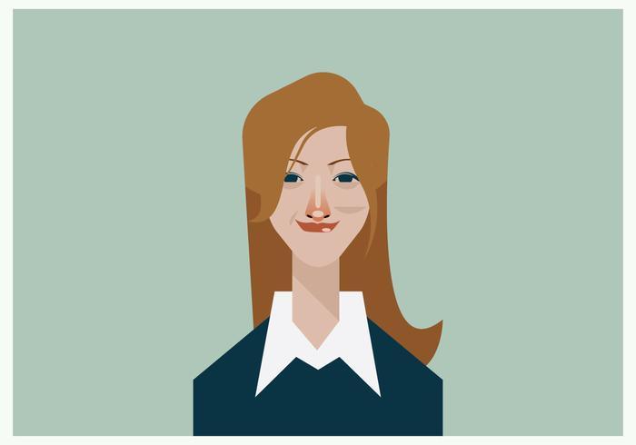 Headshot van glimlachende mooie Employee Vector
