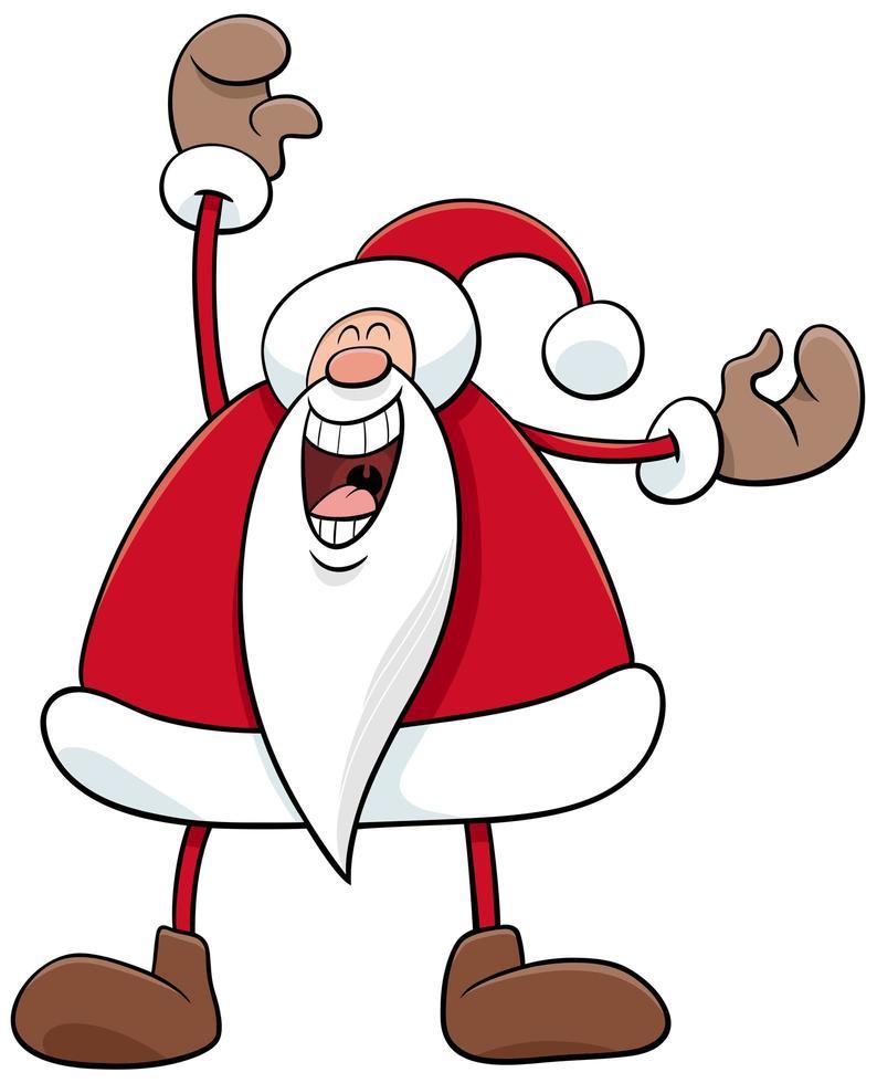gelukkig kerstman kerst stripfiguur vector