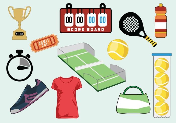 Tennis Icon Vector Set