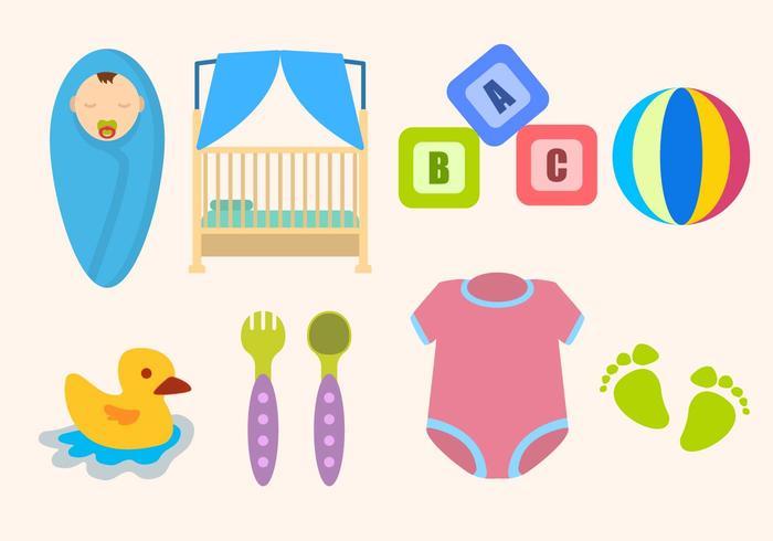 Flat baby Essentiele Vectors