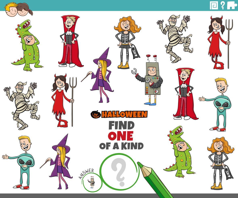uniek spel met halloween-karakters vector