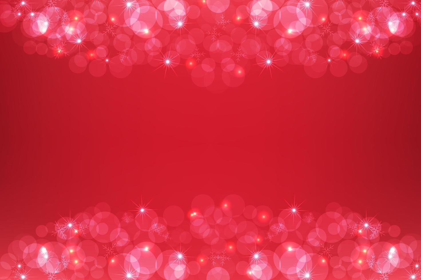 rode sprankelende vrolijke kerstvakantie achtergrond vector