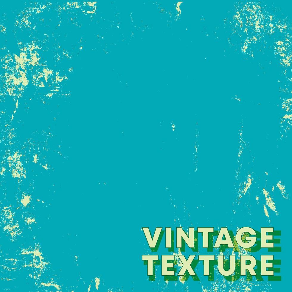 retro design achtergrond met turquoise vintage grunge textuur vector