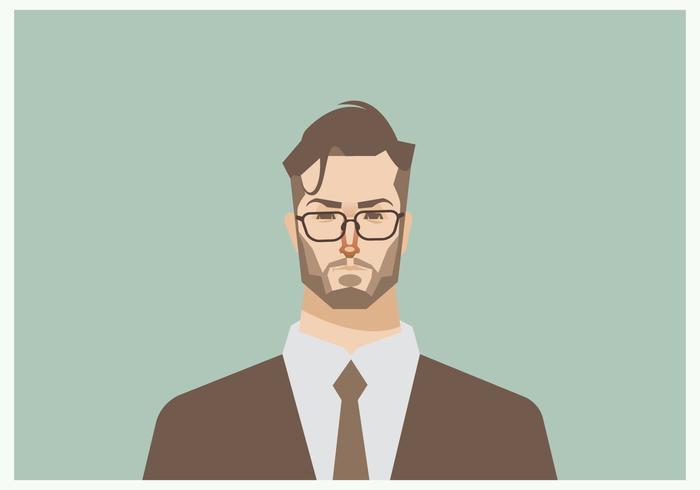 Headshot van jonge zakenman Vector