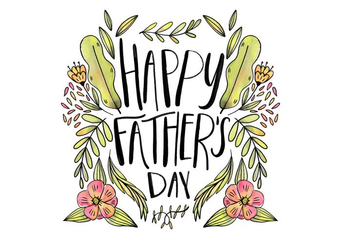 Leuke Hand Father's Day Van letters Vector