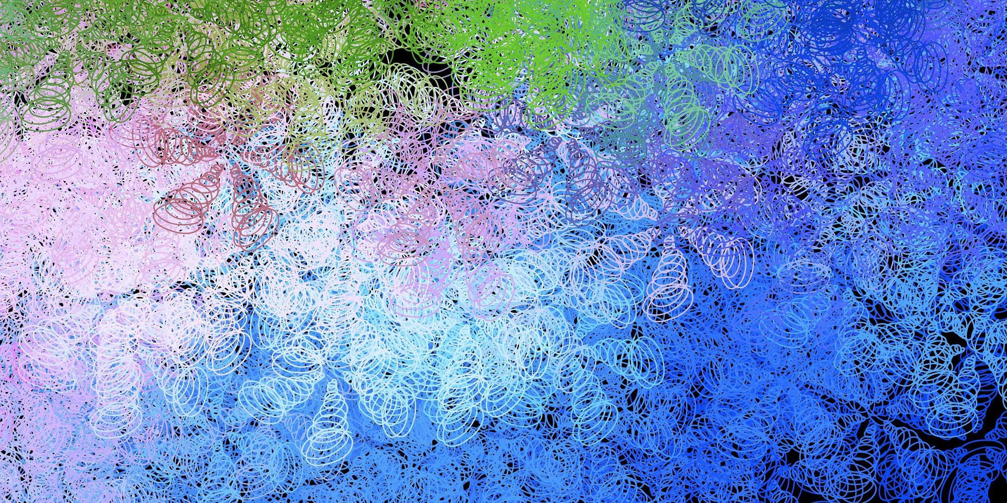 blauw, roze en groen patroon met bollen. vector