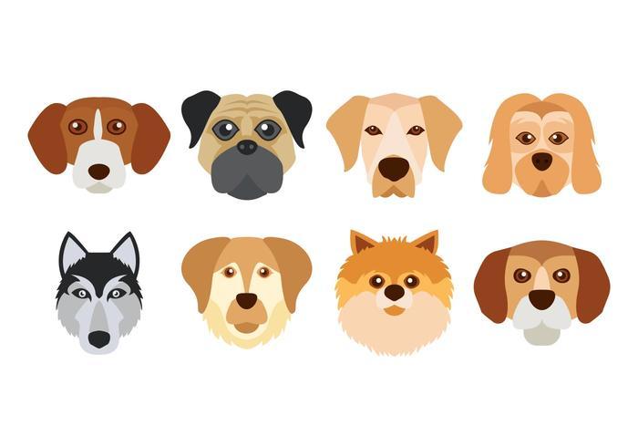 Gratis Dog Face Vector
