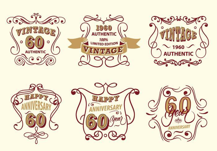 Vintage Label Scrollwork Vector Pack