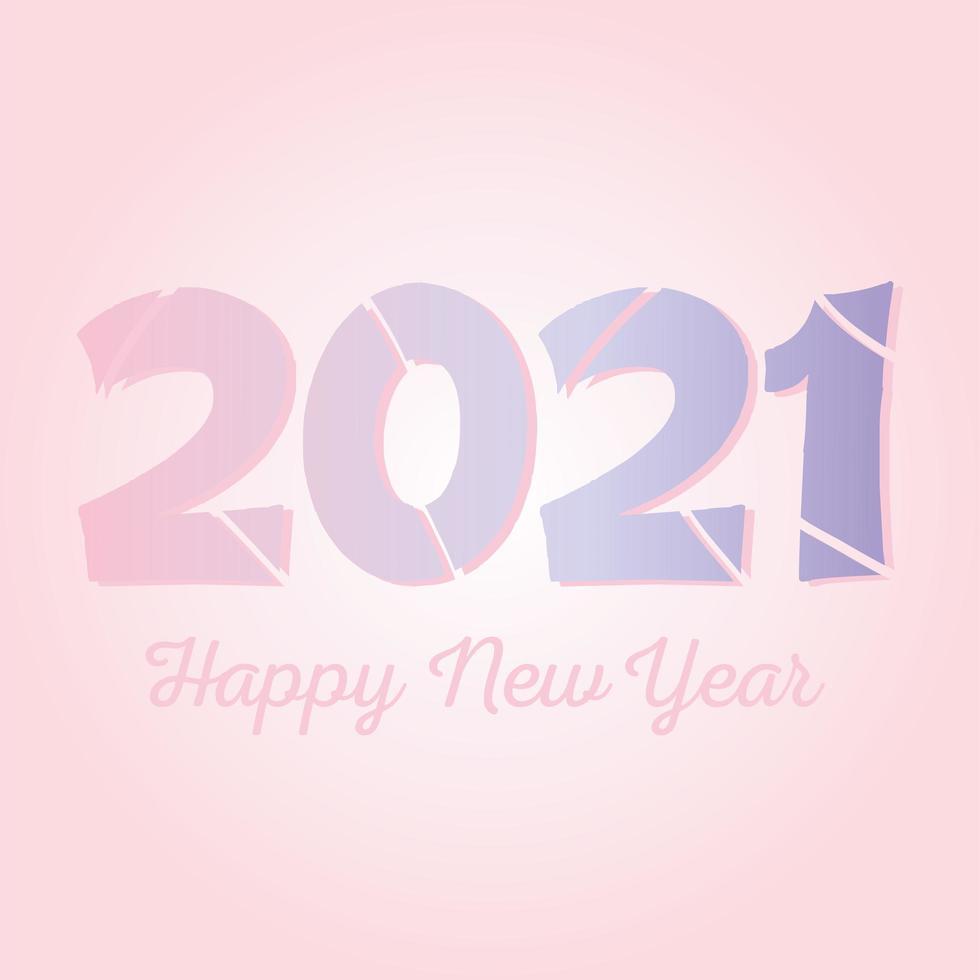 gelukkig nieuwjaar 2021 belettering banner vector