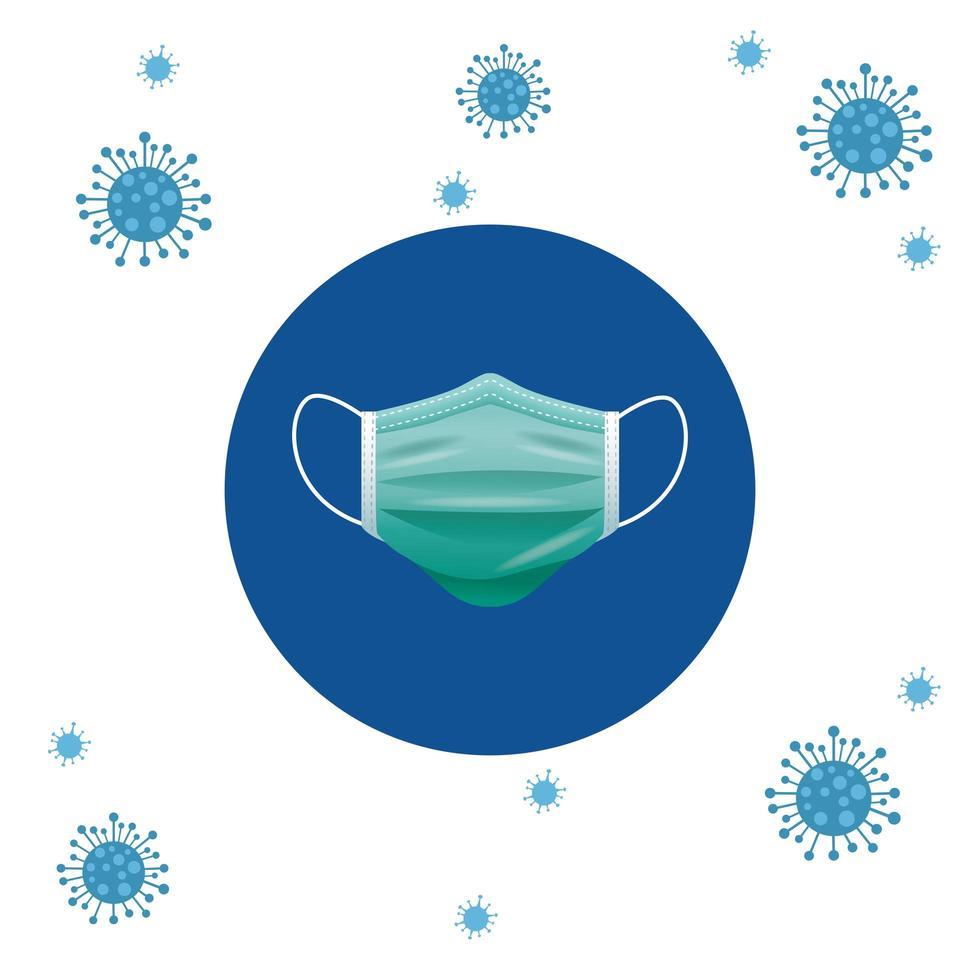 groen medisch maskerbeschermingsaccessoire vector