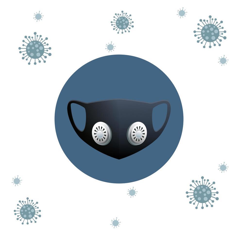 zwart medisch maskerbeschermingsaccessoire vector