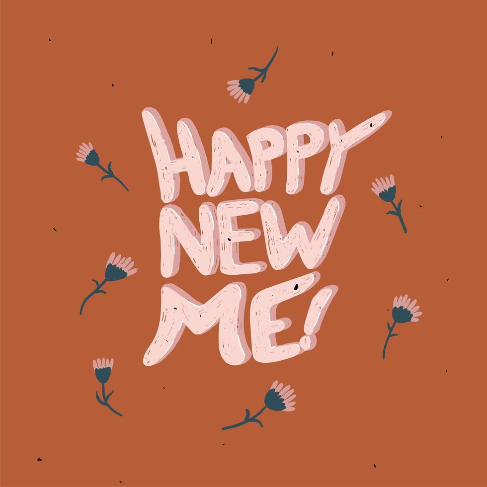 gelukkig nieuw ik - de typografie van het nieuwe jaar 2021 vector