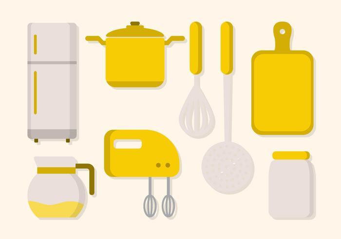 Flat Werktuig van de keuken Vector