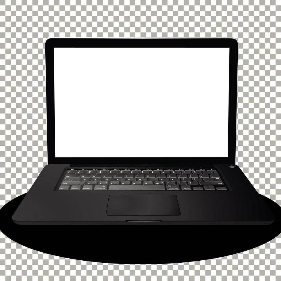 laptop of computer geïsoleerd vector