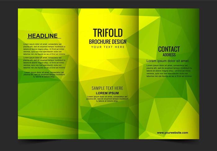 Template Gratis Vector Trifold Zaken Brochure