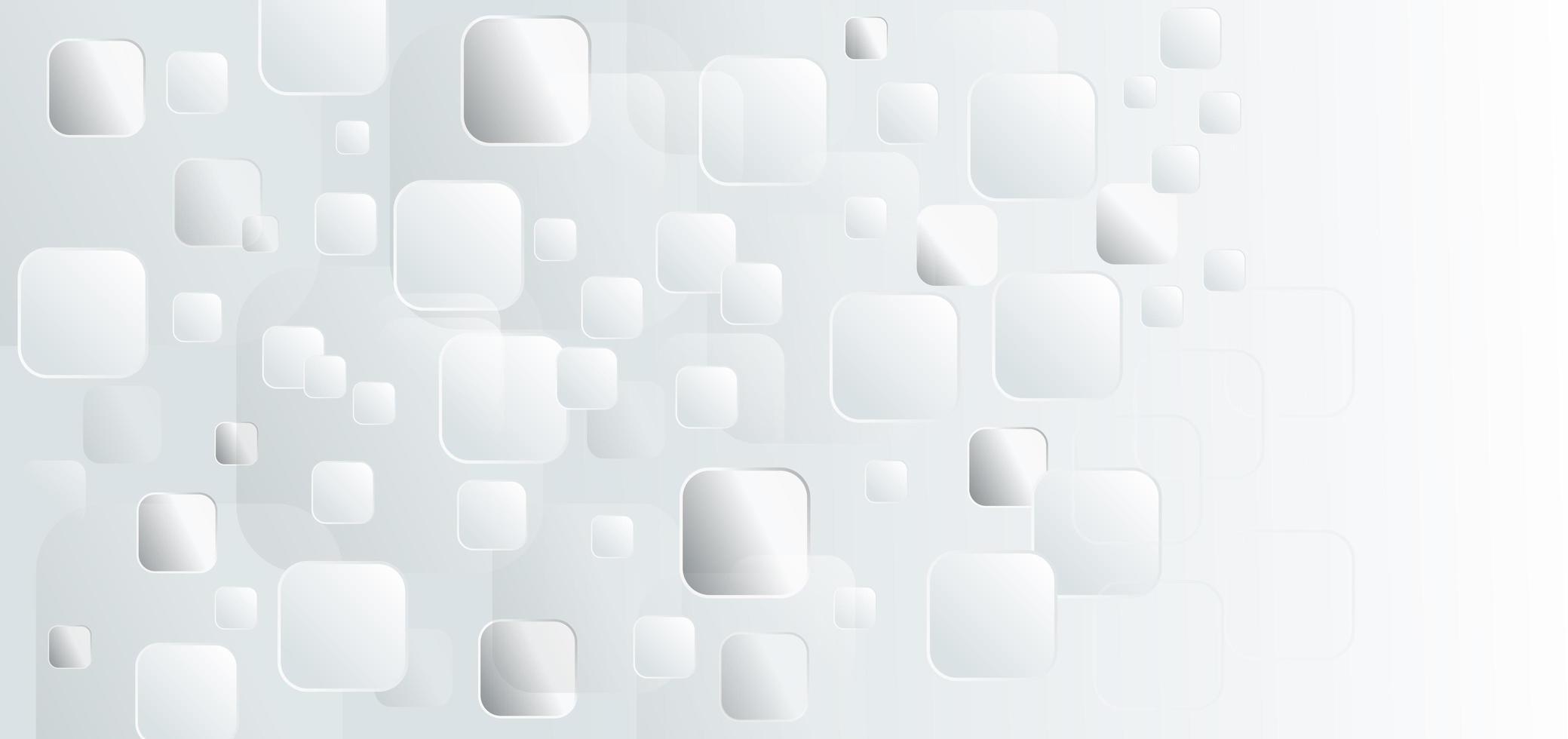 abstracte sjabloon witte en grijze vierkanten vector