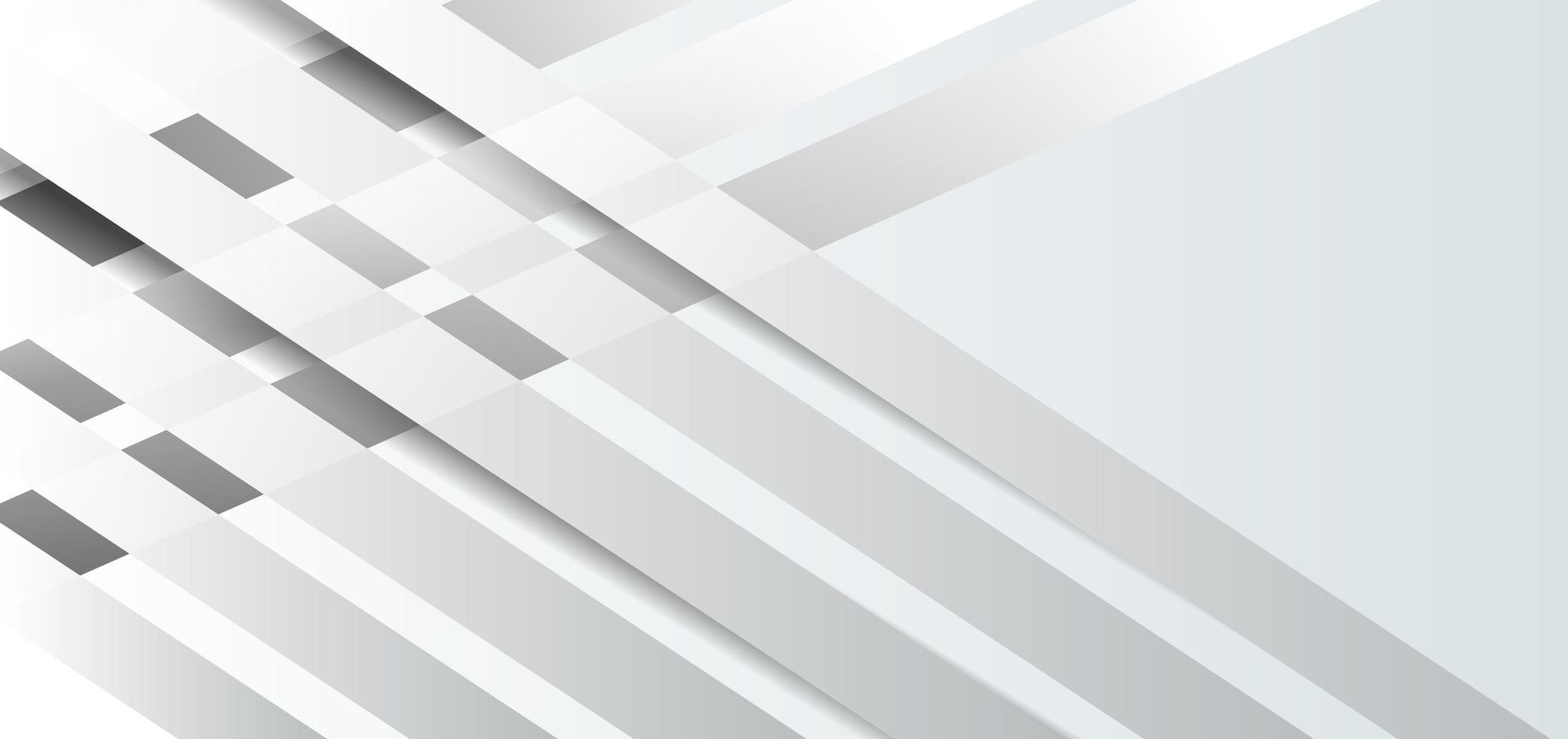 abstracte sjabloon witte en grijze diagonale elementen vector