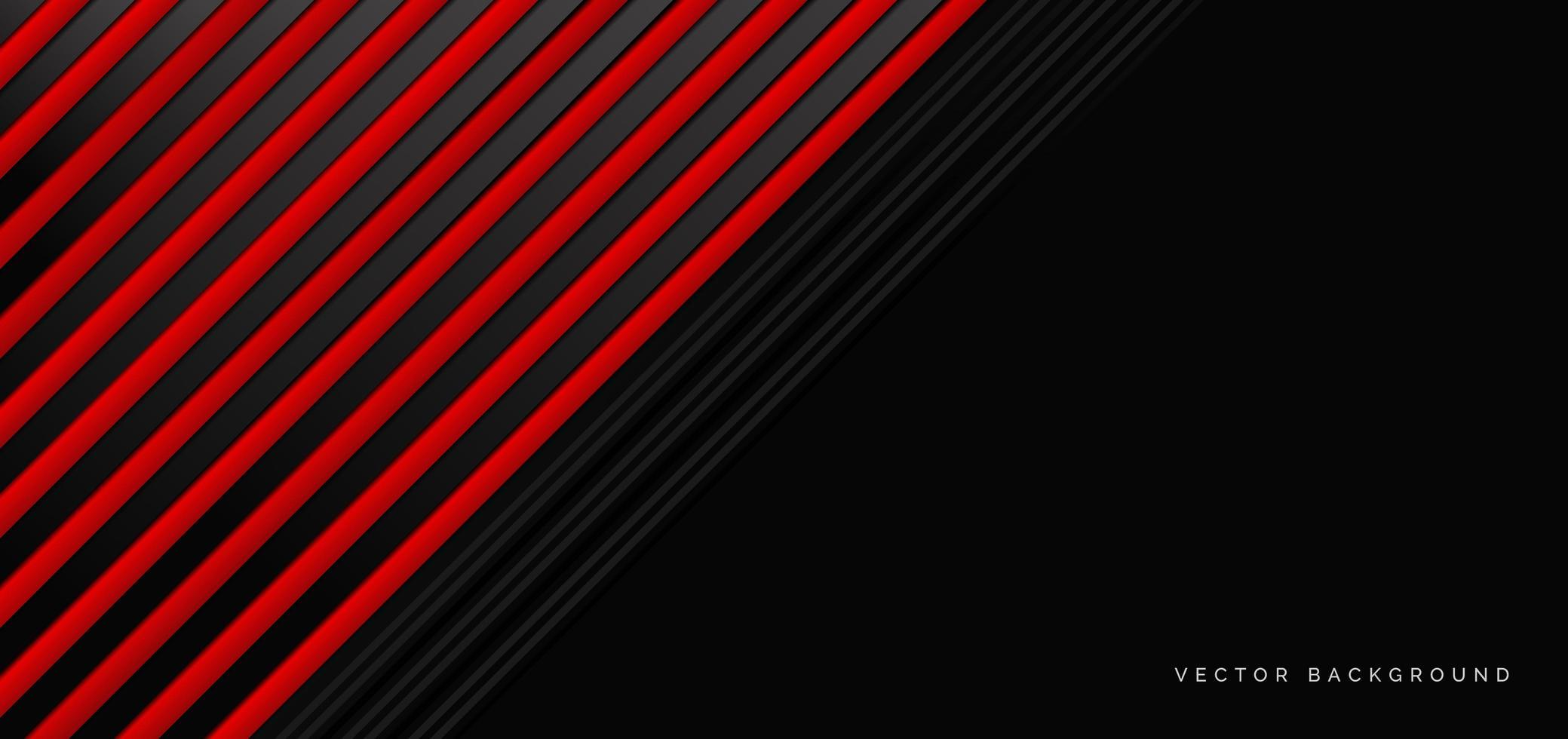 abstracte banner met rode en zwarte geometrische elementen vector