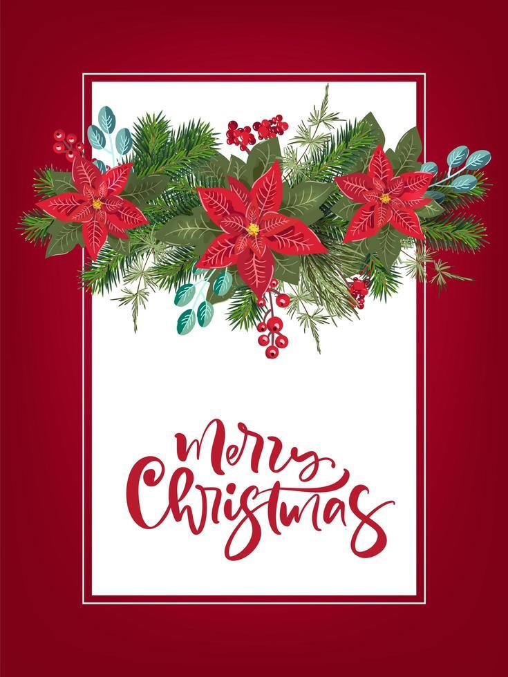 vrolijk kerstfeest uitnodiging sjabloon vector