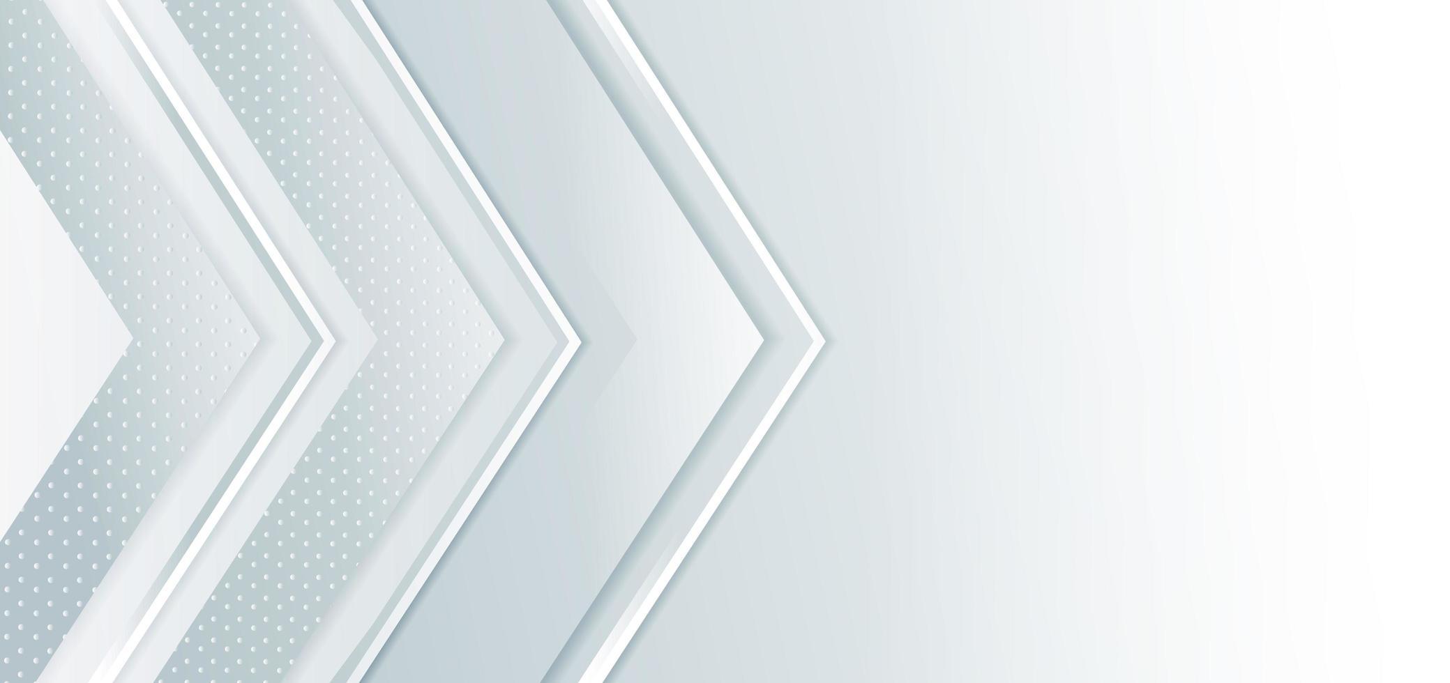 abstracte banner met grijze en witte pijlen vector