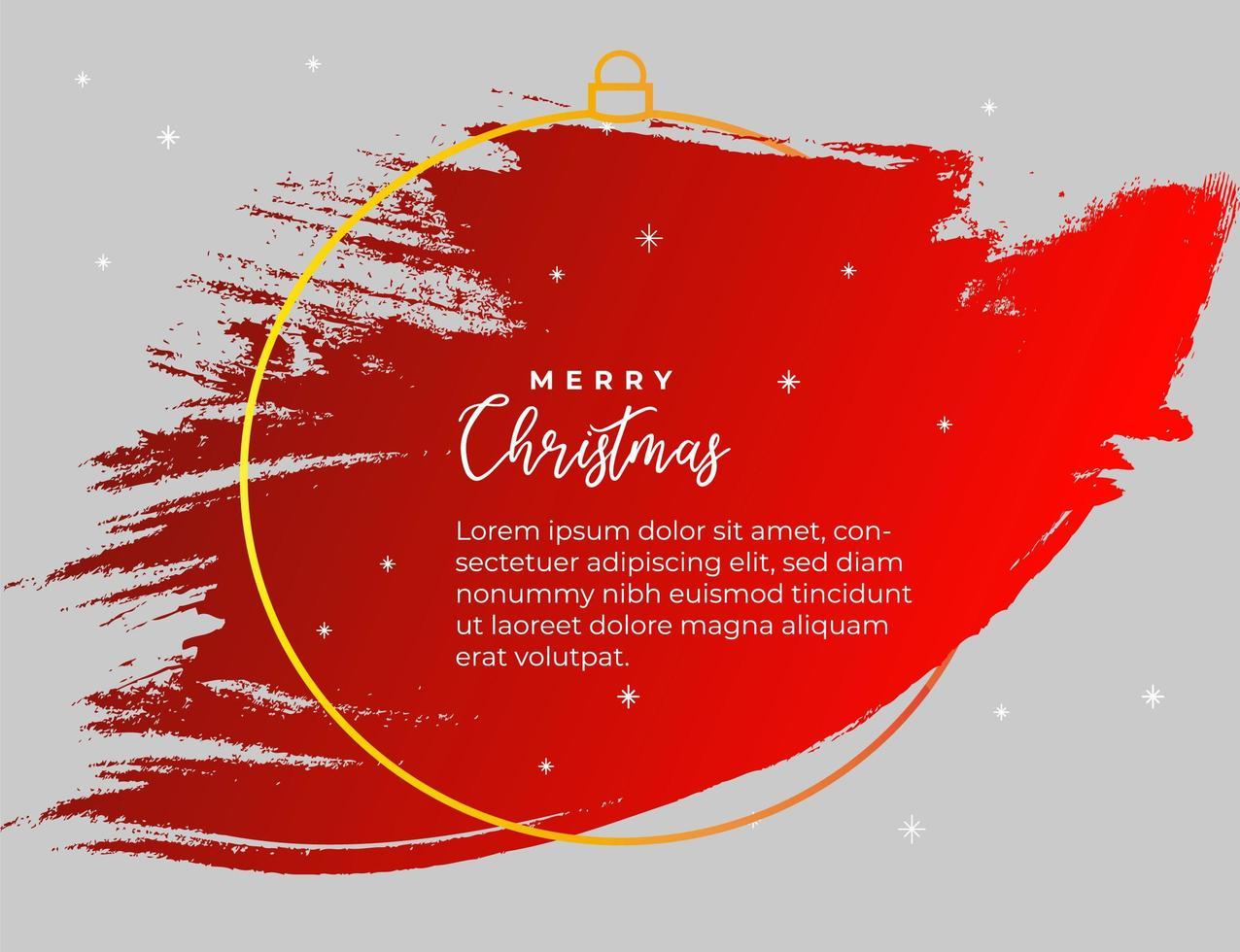 rode splash banner voor Kerstmis vector