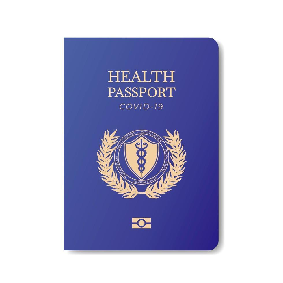 gezondheid paspoort sjabloon vector